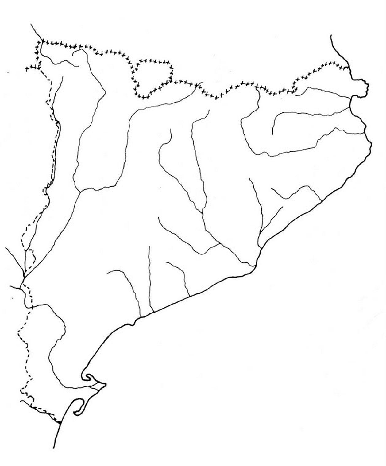 Mapa Fisic Catalunya Mut.Mapa Amb Els Rius Mes Importants De Catalunya Cerca Amb