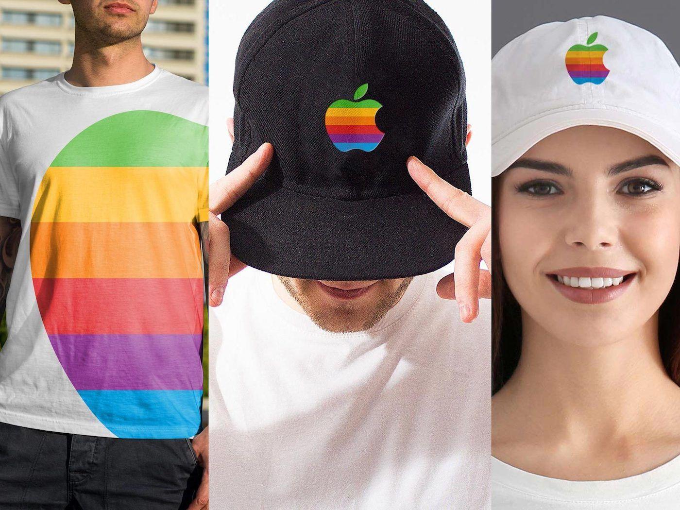 Apple veut utiliser son logo coloré sur des vêtements