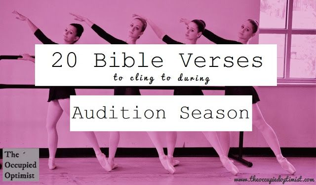 20 Truths for Audition Season - For ballerinas, From me at theoccupiedoptimist.com