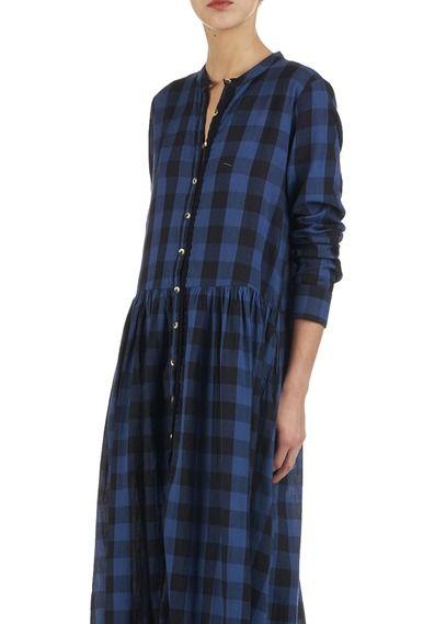 Robe Rocha Longue Style Harper Leon Woman By Bleu Carreaux amp; rvqdxPSrw