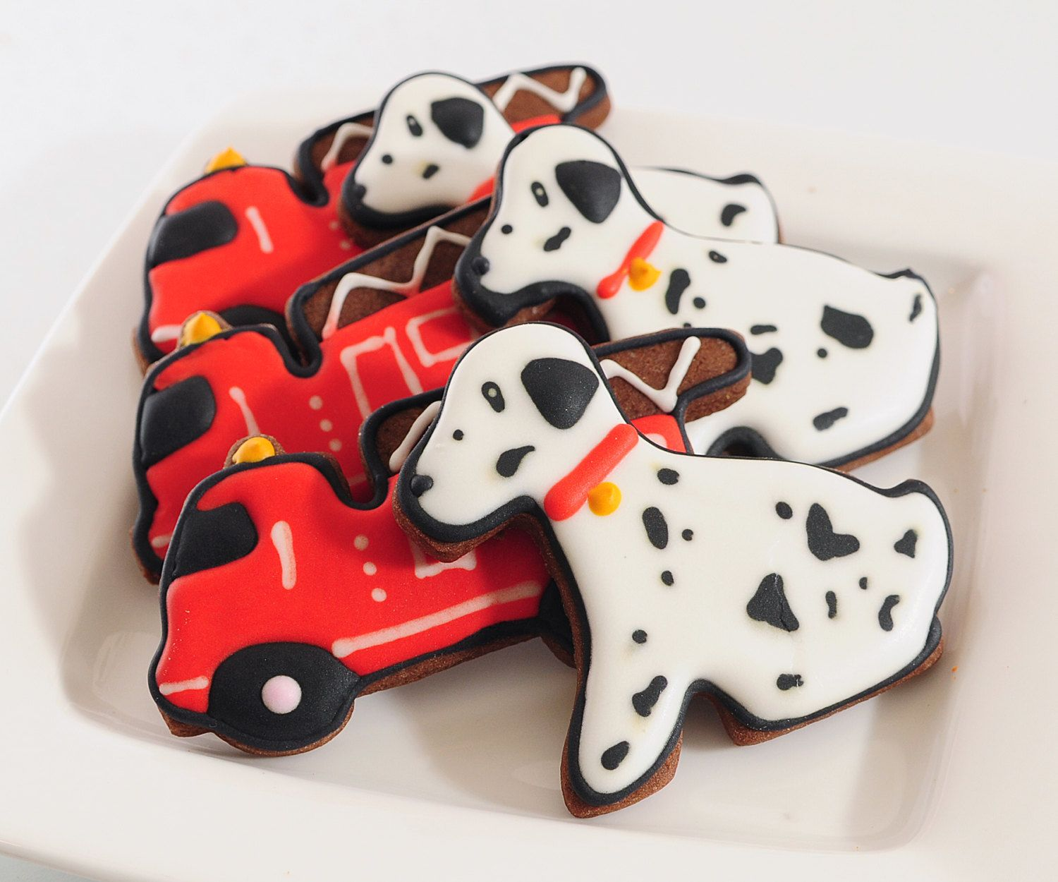Fire Truck Cookies Fire Truck Birthday Fire Truck Party Fire