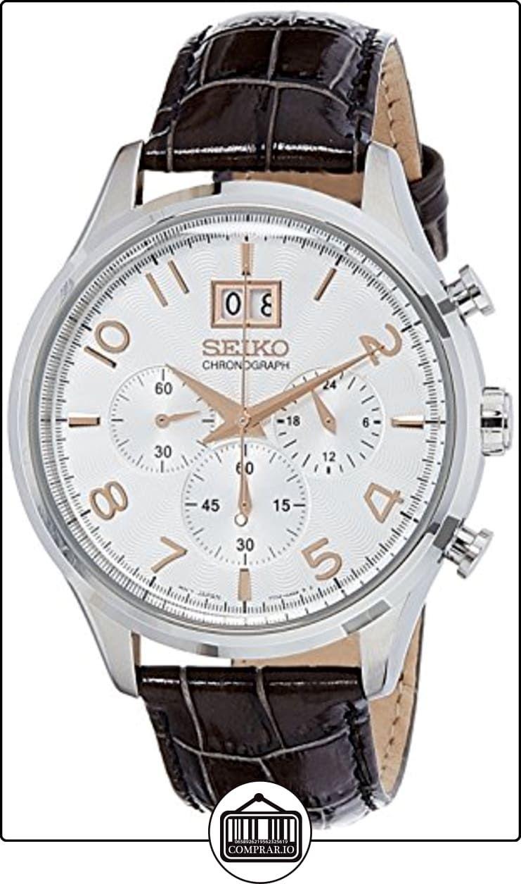 Seiko Reloj Cronógrafo de Cuarzo para Hombre con Correa de