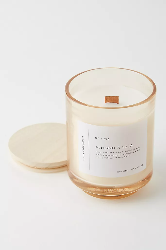 Smoke Musk Wood wick candle   Coconut apricot wax candle Spice scented 14oz candle