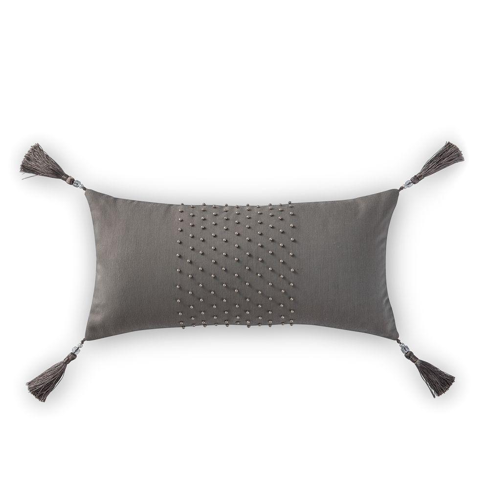 """Waterford Blossom Tassel Decorative Pillow, 11"""" x 22"""""""