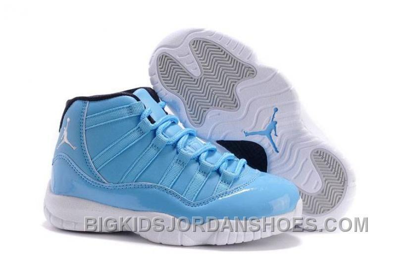 Kids Jordan 11 XI University Blue/Black
