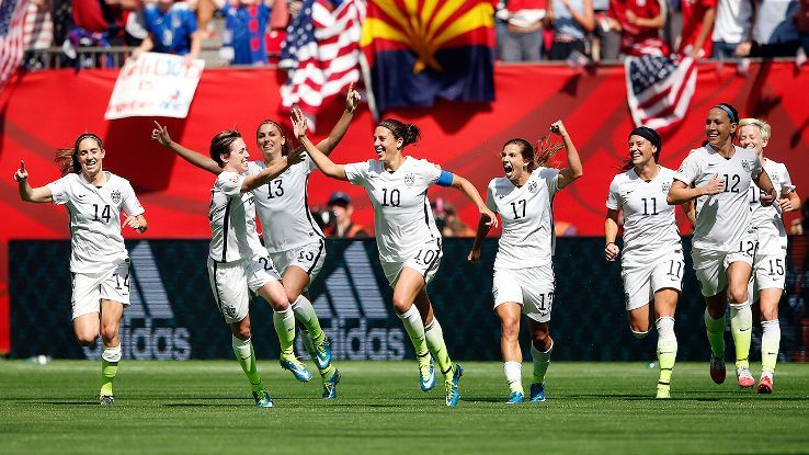 United States crush Japan 5-2 for first WWC title since 1999.  Hat trick in the first 16 minutes for Carli Lloyd is a World Cup Record (men AND women's WC)!