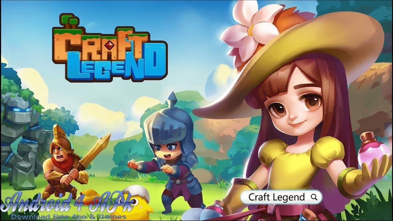 Craft Legend Android Game Apk Download In 2020 Android Games Guild Wars Monster Invasion