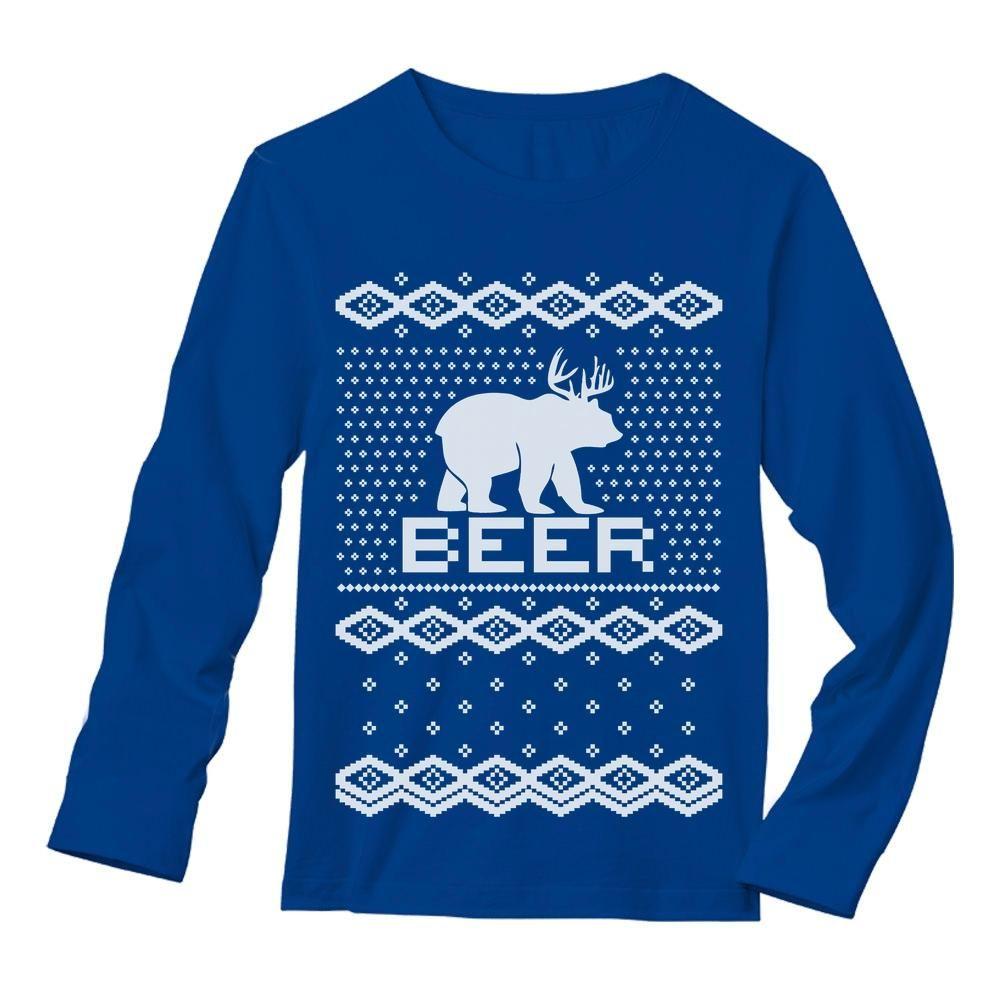 Bear Deer = BEER Ugly Christmas Sweater Funny T-Shirt Xmas Apparel