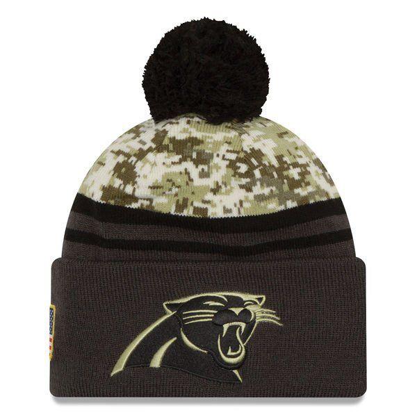 NFL 2016 Carolina Panthers Salute To Service Knit Hat  aab8dfd0a