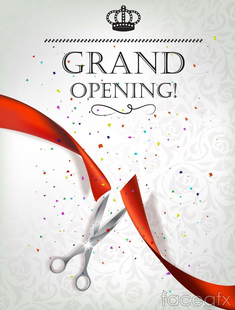 Exquisite Opening Ceremony Invitation Poster Vector Grand