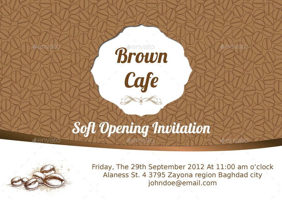 Cafe Invitation Card Invitation Cards Invitations