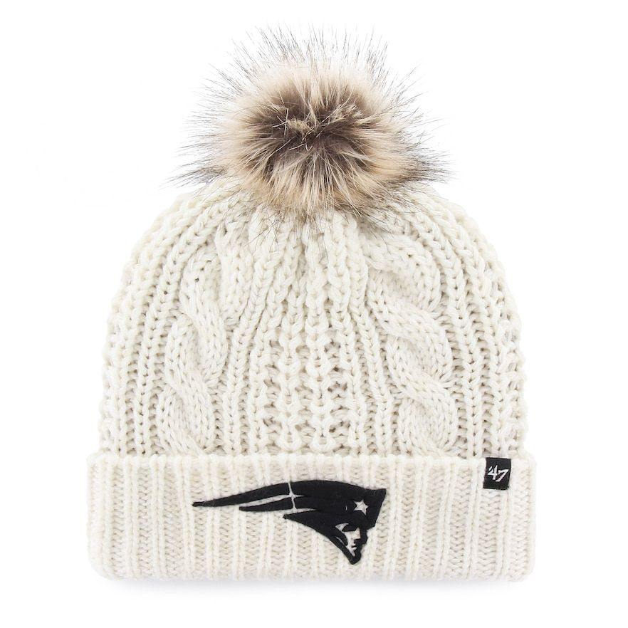 Women s  47 Brand New England Patriots Meeko Cuffed Knit Hat ... 2dff86363