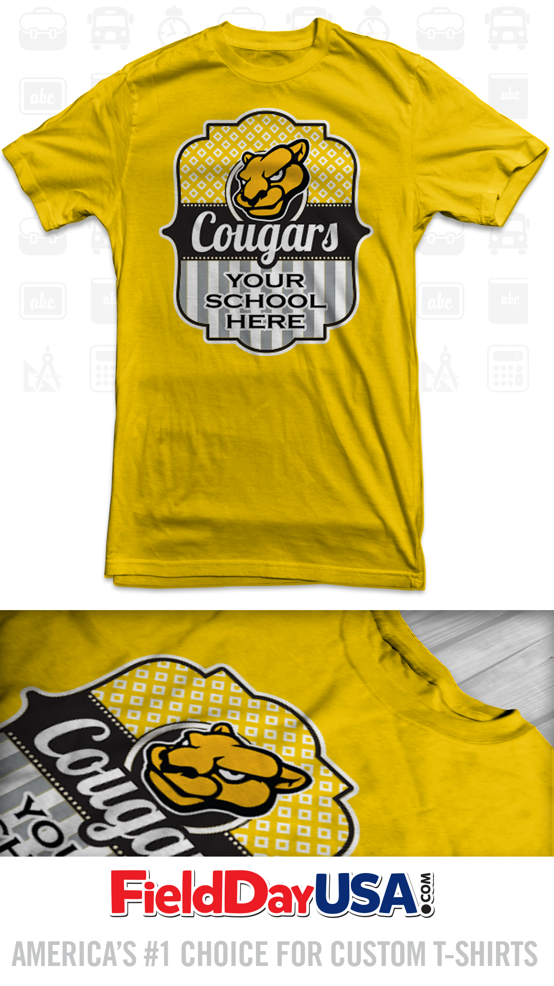T shirt design ideas for schools - School Mascot T Shirt Mas16 08