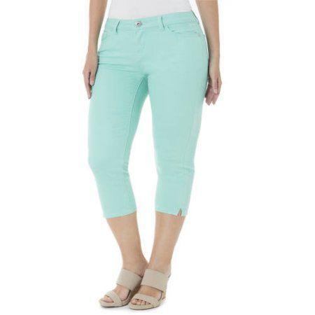 Jordache Women's Plus-Size 23 inch Skinny Capris, Size: 16W, Beige ...