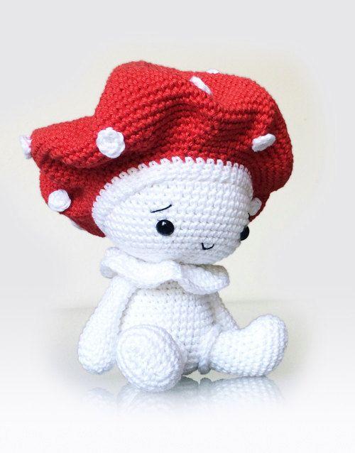 Amigurumi Doll Anleitung : Amigurumi Crochet Mushroom Pattern - Amanita the Mushroom ...
