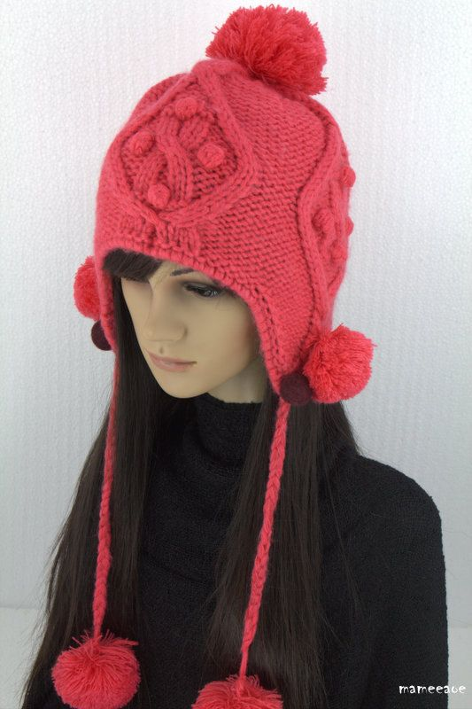 b2e3ff6a000 Free shipping.Hand knit Hat pink peach color . Order 10 pcs Free shipping .