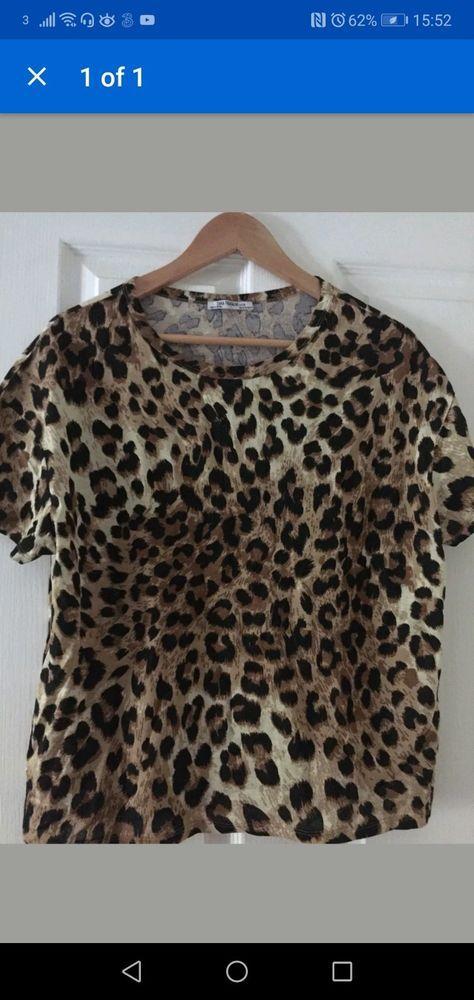 2f5c2897892eb8 Womens Zara Leopard Print Top t-shirt animal Print tiger print Size L  #fashion #clothing #shoes #accessories #womensclothing #tops (ebay link)