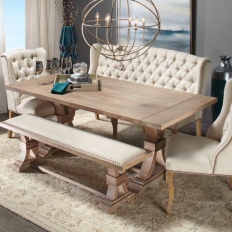 Archer Wash Oak Extending Dining Table Dining Room