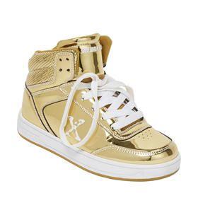 Metallic Gold Look Skate Shoes