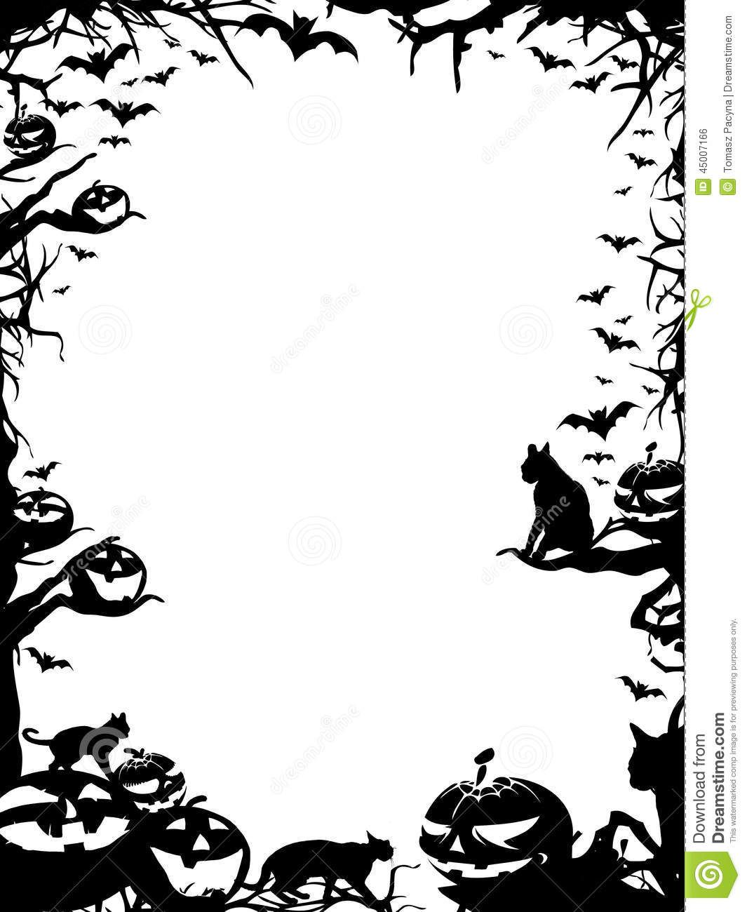 black and white halloween borders 6 jeepers creepers