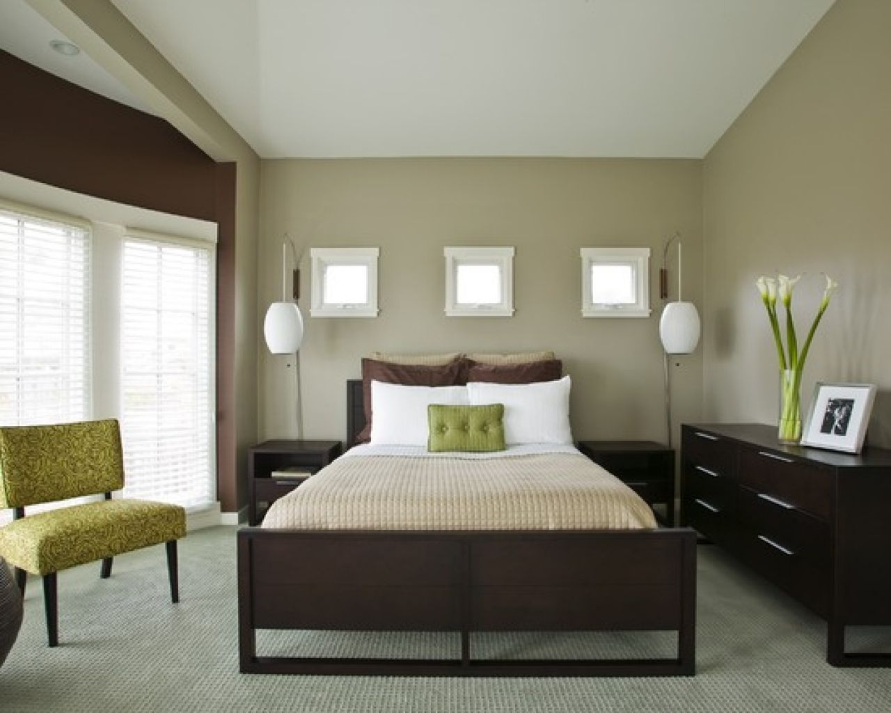 Green And Brown Bedroom Entrancing Green And Brown Bedroom Decor  Interior Paint Colors 2017 Check Review