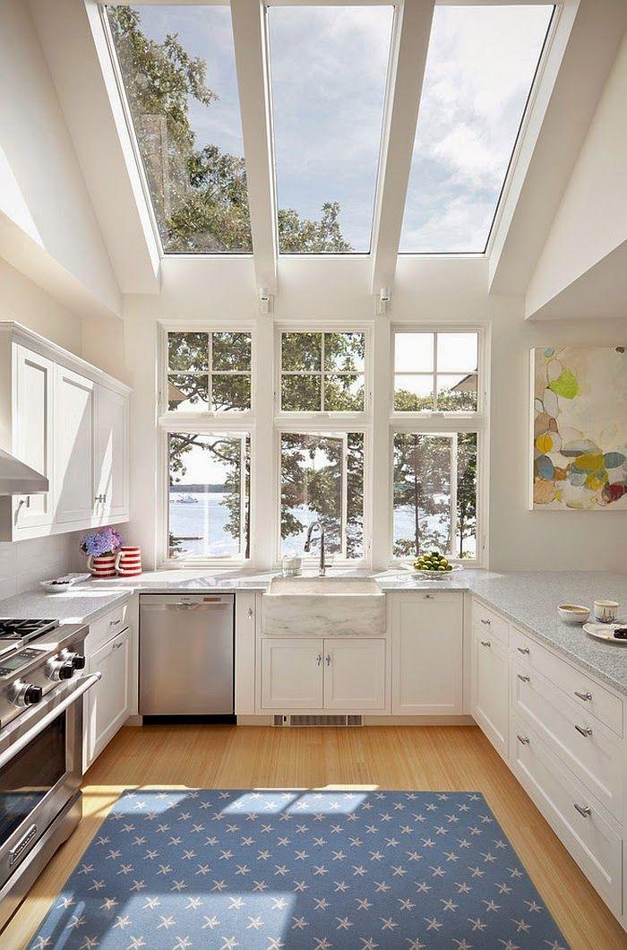 25 Ide Menawan Desain Kitchen Dapur Dengan Atap Kaca Dapur