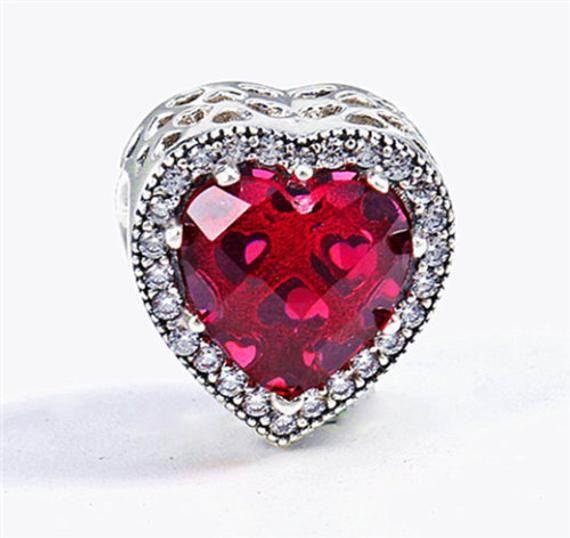 European Bead. Crystal Red Heart Charm ,  10mm, Large Hole Bead, Fits Pandora Charm Bracelet (c113). -  European Bead. Crystal Red Heart Charm ,  10mm, Large Hole Bead, Fits Pandora Charm Bracelet (c113) - #10mm #Bead #Bracelet #c113 #Charm #Crystal #cuteweddingdress #European #Fits #Heart #Hole #Large #pandora #pandoracharms #pandorarings #Red #weddingbride