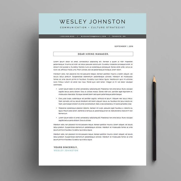 Resume / CV Template Package For Microsoft™ Word