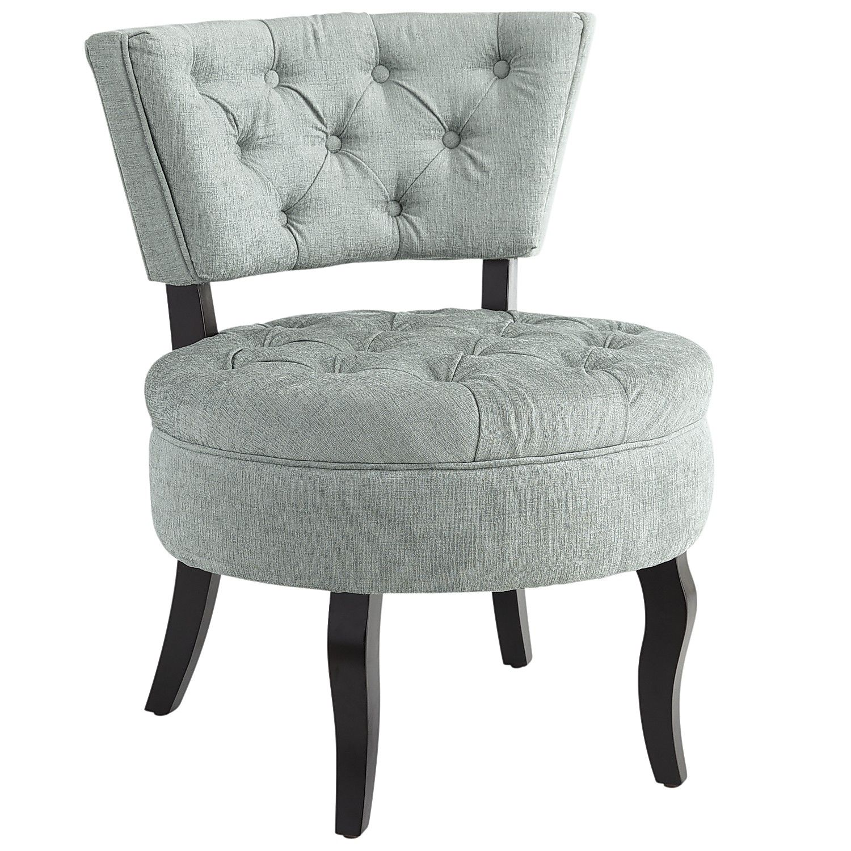 Blue tufted slipper chair - Blue Tufted Slipper Chair