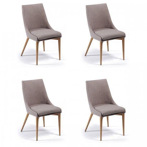 chaises design allure gris atylia x4 prix promo chaises atylia 89900 - Promo Chaises