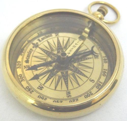 2 Inch Brass Vintage Fine Golden Polish Nautical Open Pocket Compass Ebay Kompass Projekte