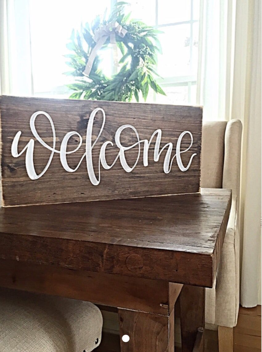Pin By Marcia Walker On Letreros De Madera De Pino Home Decor Signs Painted Wood Signs Hand Painted Wood Sign