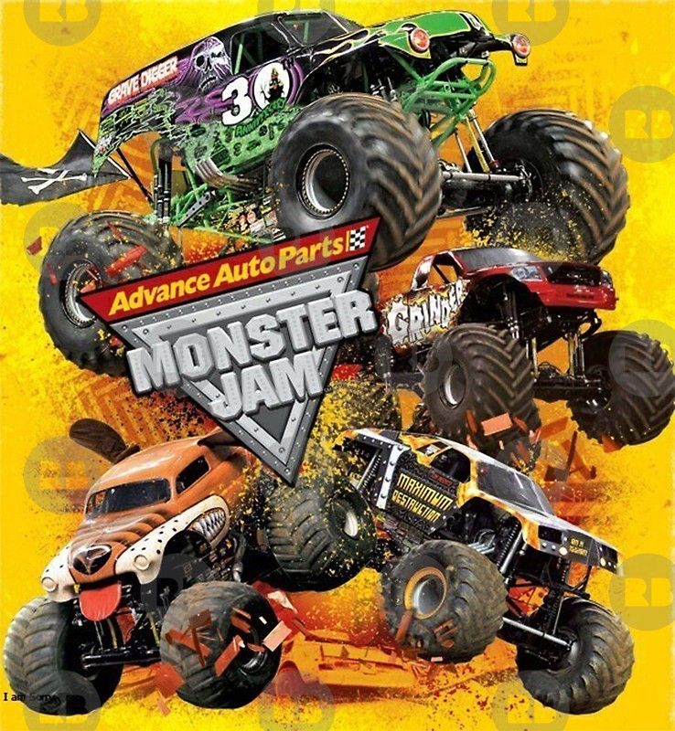 Jam Monster Jam Monster Posters By Wanto377 Redbubble Monster Trucks Monster Jam Big Monster Trucks