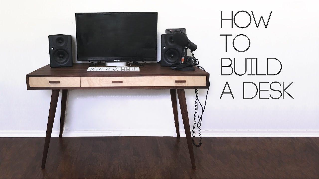 Diy Mid Century Modern Desk How To Modern Builds Ep 61 Diy Desk Plans Diy Computer Desk Desk