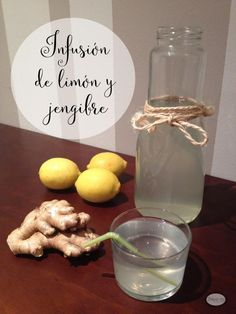 Infusión de limón y jengibre, perfecta para cuidarte de forma familiar