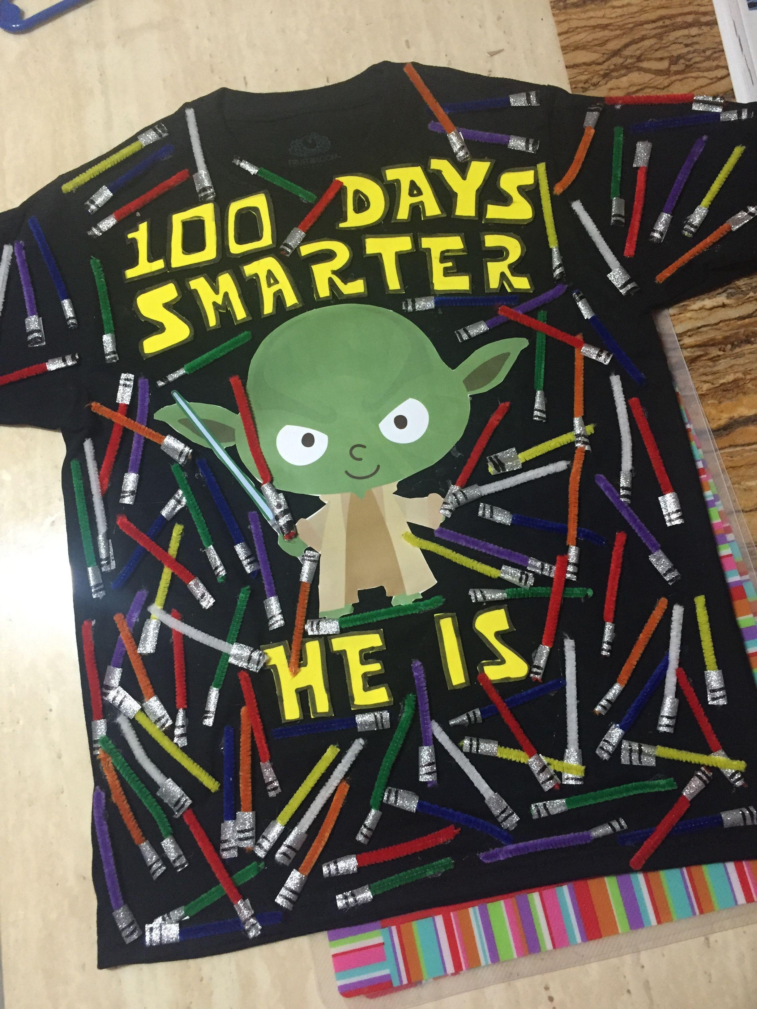 100 days of school shirt project Star Wars inspired - #days #Inspired #Project #school #Shi...