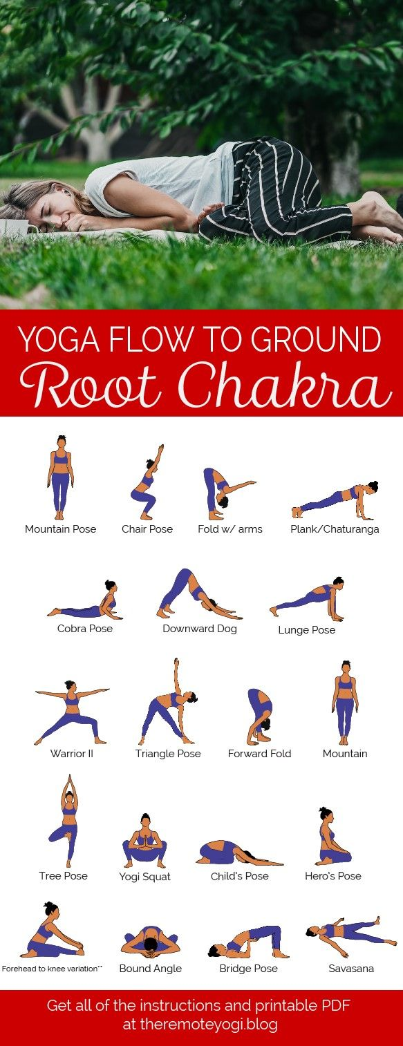 Yoga for Root Chakra – Free Printable PDF in 47  Basic yoga
