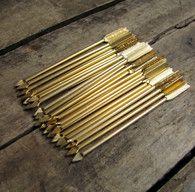 vintage c. 1960s set of 25 gold metal arrow cocktail picks // made in England (LAST SET)