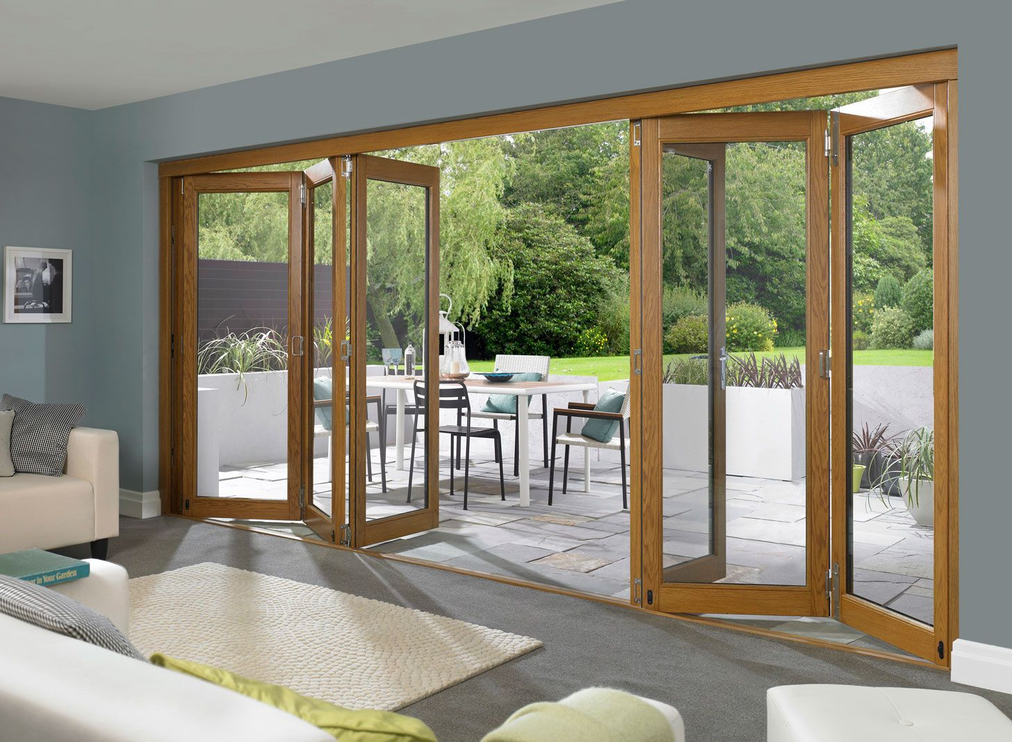 Folding Door Blinds House Outdoor Accordion Door In