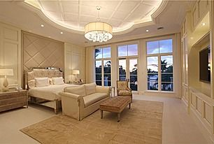 Glamourous Contemporary Master Bedroom