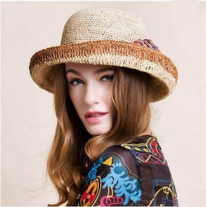 2fffd8ffd41 Pin by throw pillows home on straw roll brim sun hat for women ...