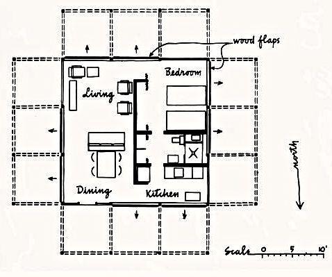 Floor Plan Walker Gh Jpg 478 399 Paul Rudolph Guest House House Flooring