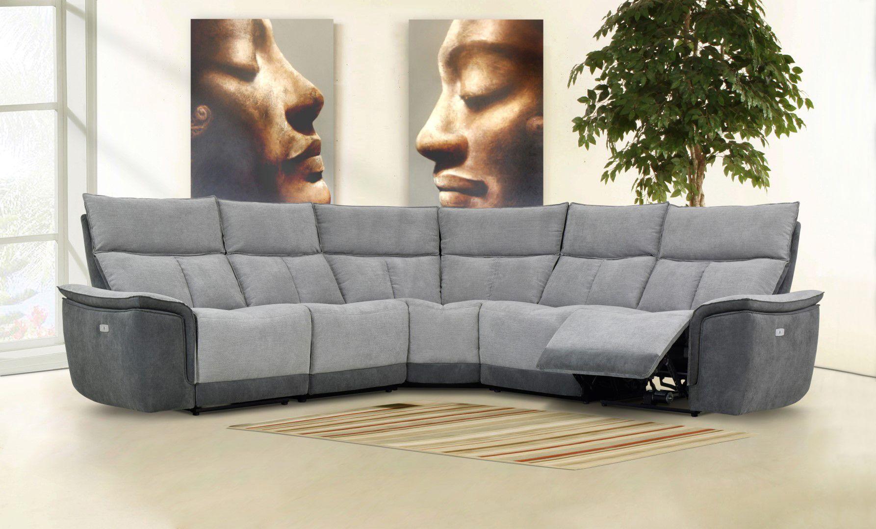 Stefano Corner Power Recliner Graceland Fabric Sofa Set In Metal Dark Grey Power Recliners Sofa Set Fabric Sofa
