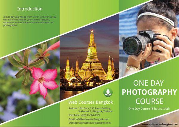 Web Courses Bangkok Learn Graphic Design Tri Fold Brochure Tutroial Trifold Brochure Brochure Learning Graphic Design