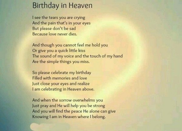 The 60 Happy Birthday In Heaven Quotes Birthday In Heaven