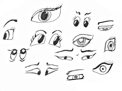 Pin By Elba On I Can Draw This Easy Cartoon Drawings Cartoon Eyes Drawing Pencil Drawings Easy