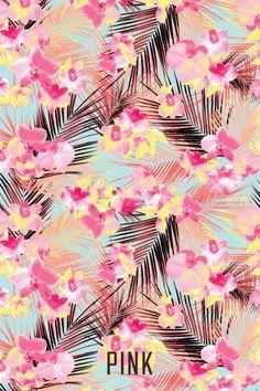 Victoria secret pink tropical flower wallpaper baby pinterest victoria secret pink tropical flower wallpaper mightylinksfo