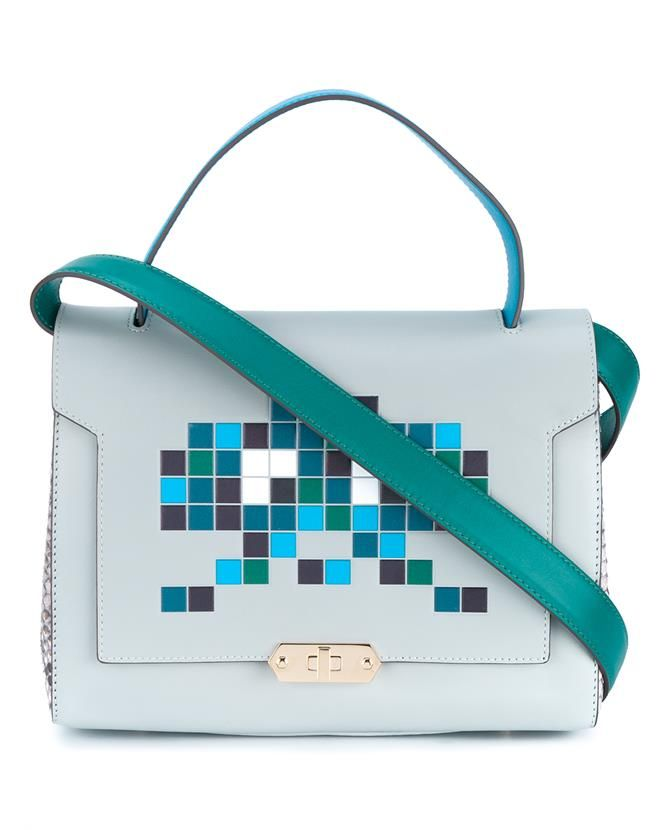 a33abe01ef9 ANYA HINDMARCH Space Invaders Small Bathurst Satchel.  anyahindmarch  bags   shoulder bags