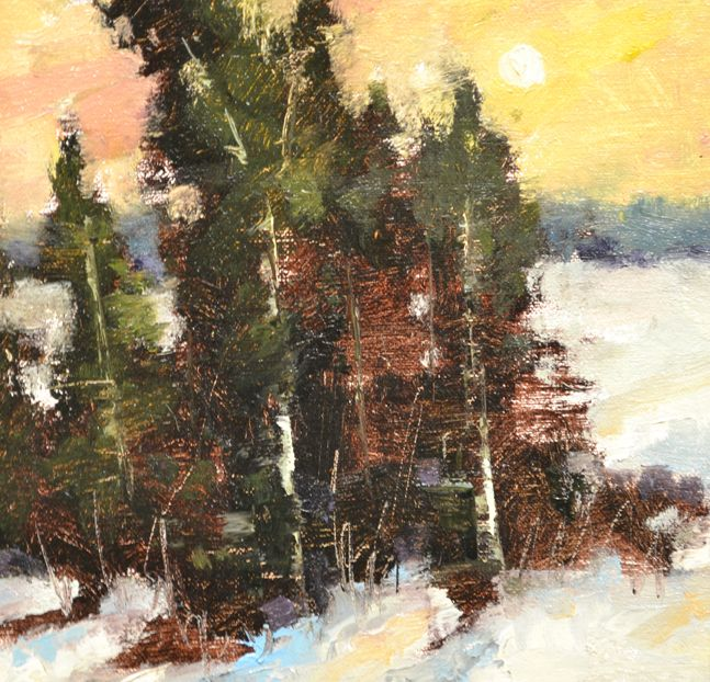 """Bethanne Kinsella Cople, """"Round every windward stake, or tree, or door"""" - 8x8, oil, at Principle Gallery"""