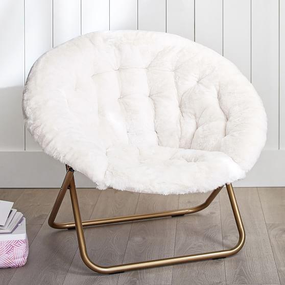 Ivory Polar Bear FauxFur HangARound Chair in 2020